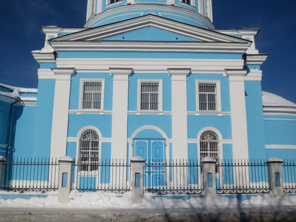 Московская область, Богородский городской округ, Ногинск. Собор Богоявления Господня, фотография. фасады