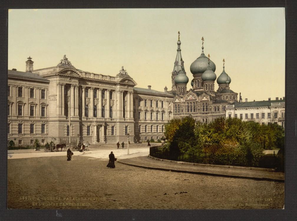Украина, Одесская область, Одесса, город, Одесса. Пантелеимоновский мужской монастырь, фотография. архивная фотография, 1900 г.