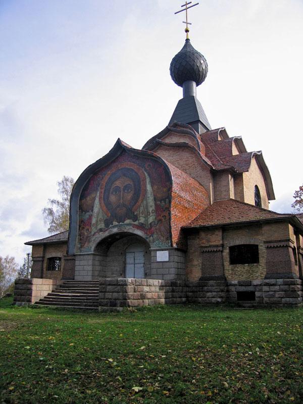 Смоленская область, Смоленский район, Флёново. Церковь Святого Духа, фотография. фасады