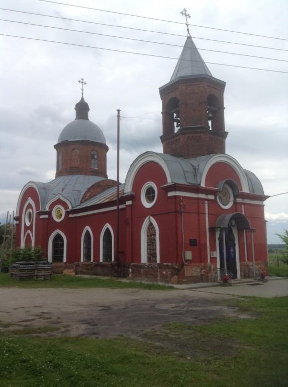 Калужская область, Дзержинский район, Фролово. Церковь Петра и Павла, фотография. фасады