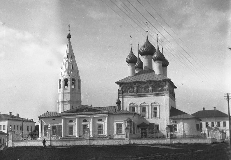 Костромская область, Нерехтский район, Нерехта. Церковь Богоявления Господня, фотография. архивная фотография