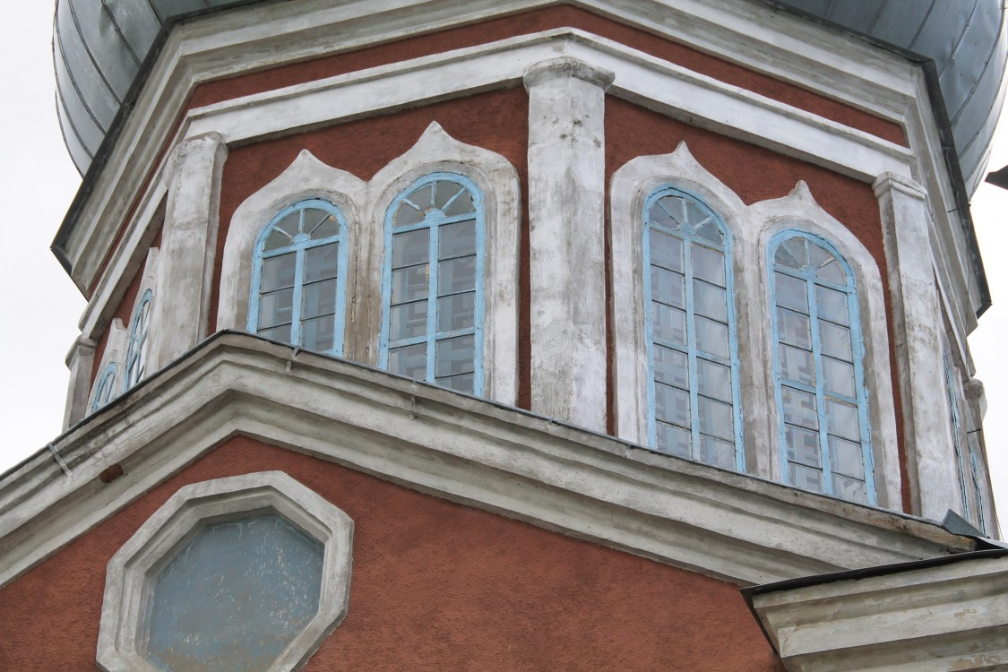 Костромская область, Шарьинский район, Печёнкино. Церковь Успения Пресвятой Богородицы, фотография. архитектурные детали