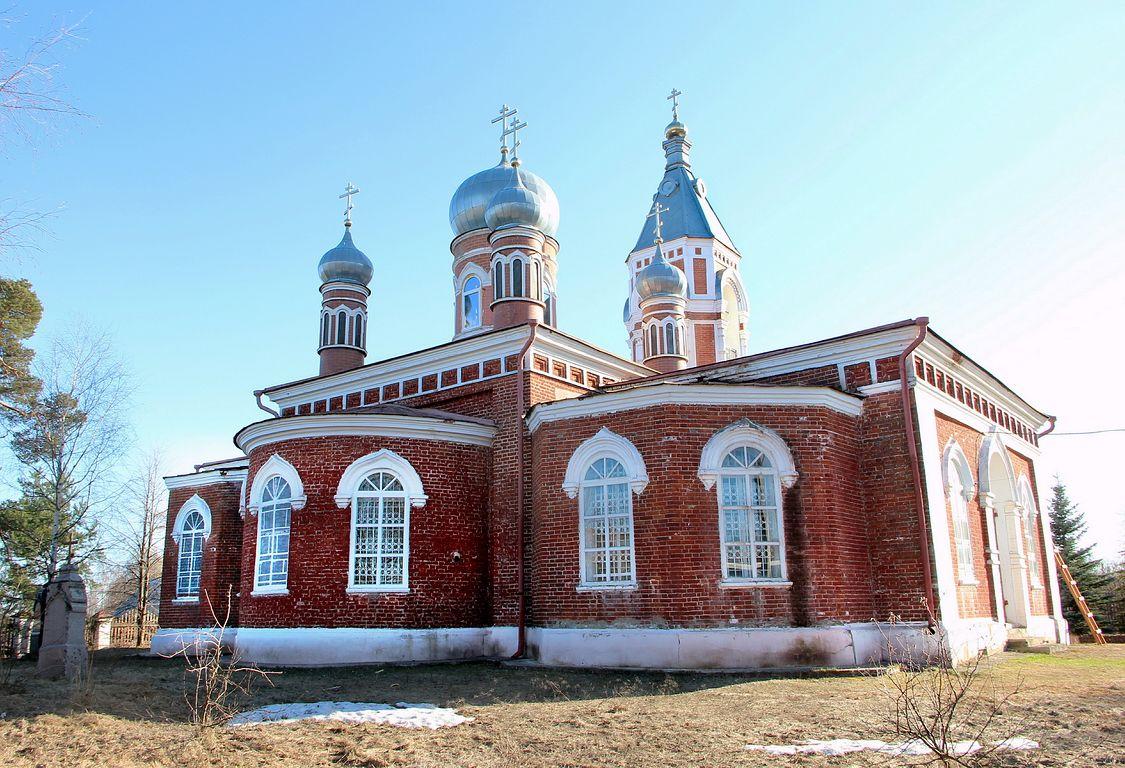 Нижегородская область, Ветлужский район, Ветлуга. Церковь Екатерины, фотография. фасады, Вид с северо-востока.
