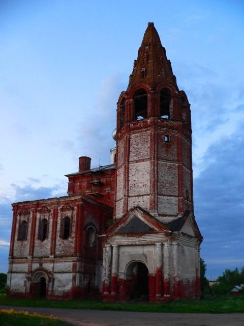 Ивановская область, Гаврилово-Посадский район, Шекшово. Церковь Иоакима и Анны, фотография. фасады