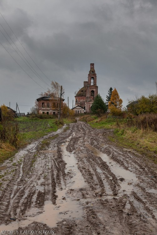 Костромская область, Сусанинский район, Головинское. Церковь Богоявления Господня, фотография. фасады