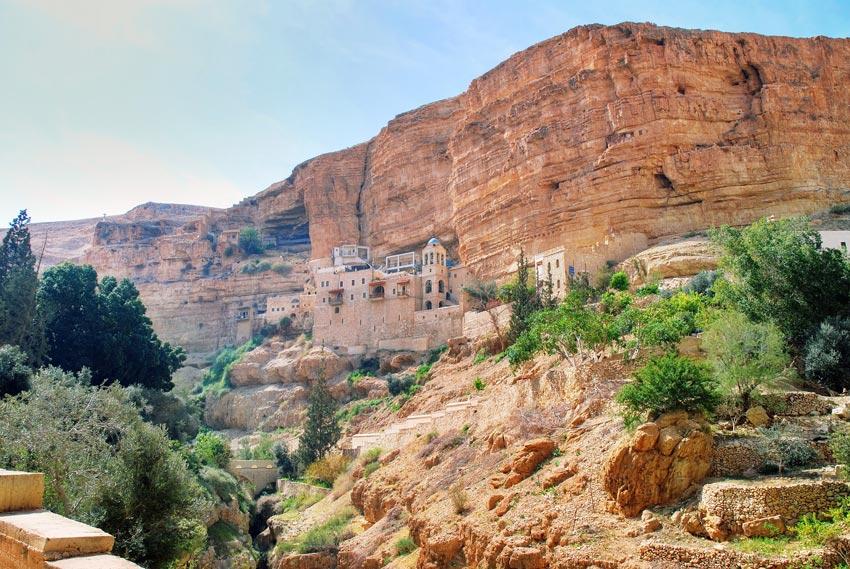 Монастырь Георгия Хозевита, Иудейская пустыня, Вади Кельт (Нахаль Прат)