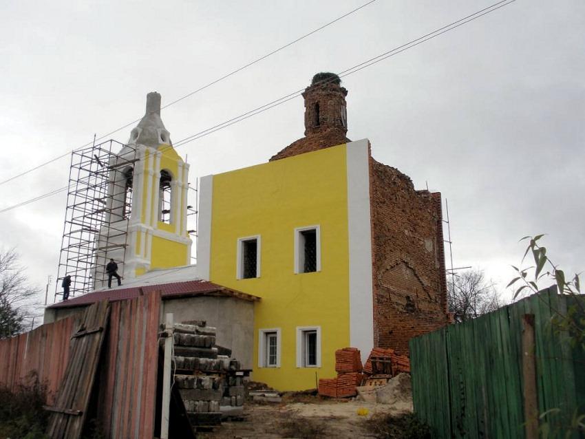 Калужская область, Калуга, город, Чижовка. Церковь Николая Чудотворца, фотография. фасады