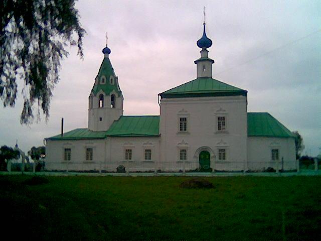 Ивановская область, Тейковский район, Стебачёво. Церковь Иоанна Богослова, фотография. фасады