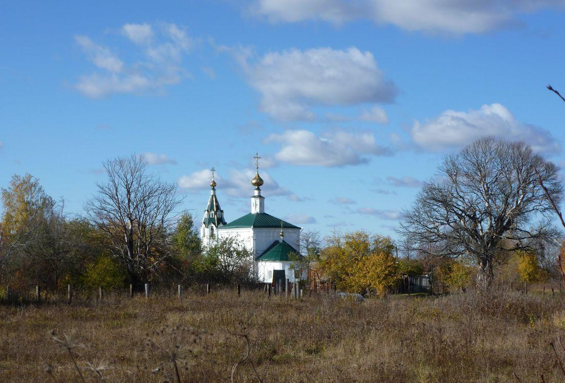 Ивановская область, Тейковский район, Стебачёво. Церковь Иоанна Богослова, фотография. общий вид в ландшафте