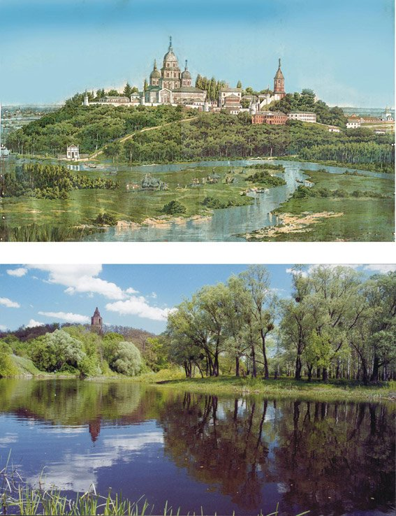 Украина, Сумская область, Ахтырский район, Ахтырка. Ахтырский Троицкий мужской монастырь, фотография. общий вид в ландшафте, Так было и так есть.