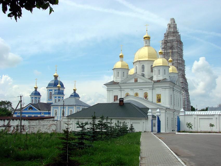 Нижегородская область, Богородский район, Оранки. Оранский Богородицкий мужской монастырь, фотография. общий вид в ландшафте