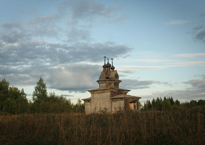 Церковь Георгия Победоносца-Пермогорье-Красноборский район-Архангельская область