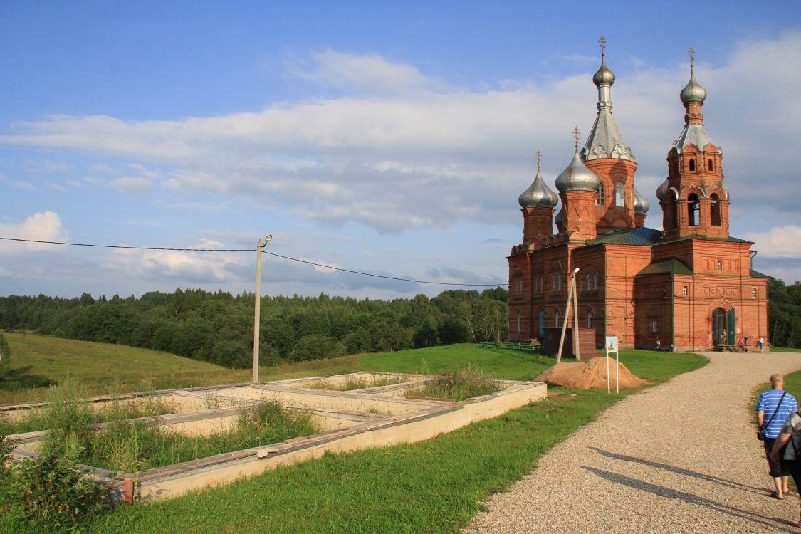 Тверская область, Осташковский городской округ, Волговерховье. Ольгинский монастырь, фотография. фасады, На этом месте ранее была трапезная