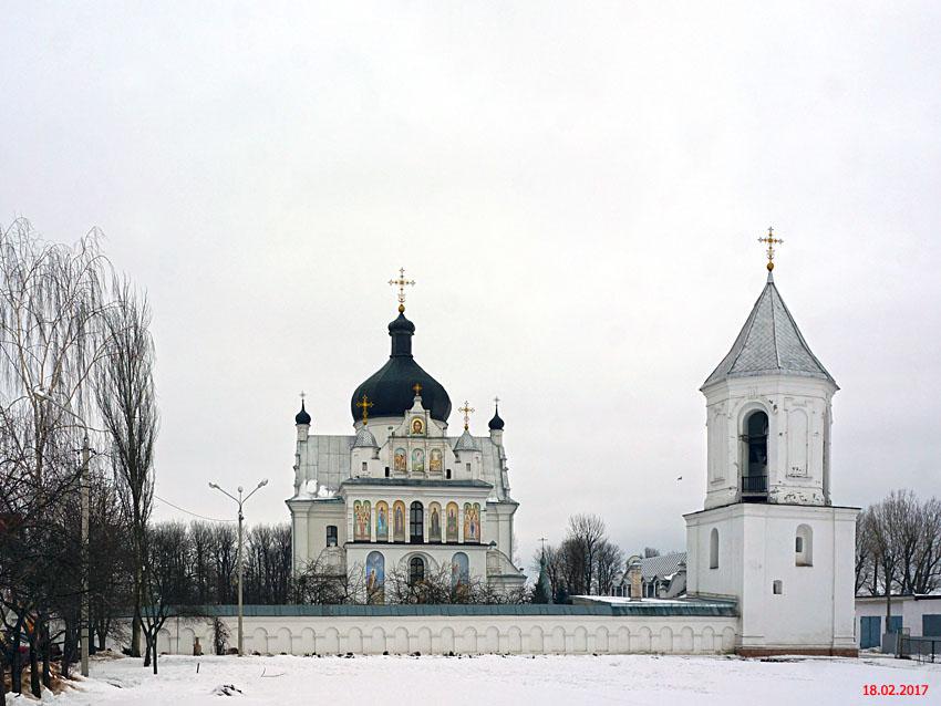 Беларусь, Могилёвская область, Могилёв, город, Могилёв. Никольский монастырь, фотография. общий вид в ландшафте