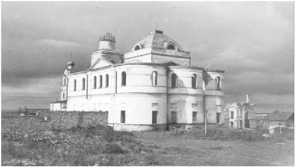 Смоленская область, Вяземский район, Вязьма. Аркадиевский монастырь, фотография. архивная фотография, Аркадьевский монастырь после войны.