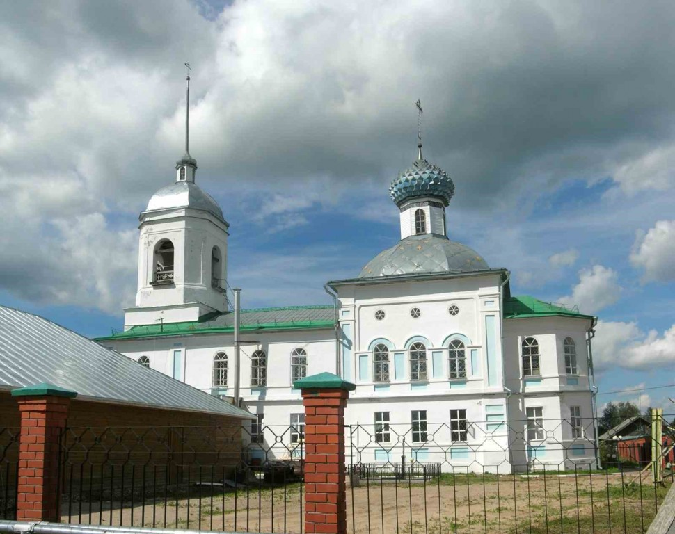 Вологодская область, Шекснинский район, Сизьма. Церковь Николая Чудотворца, фотография. фасады