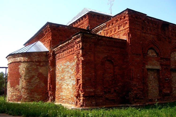 Ивановская область, Вичугский район, Новописцово. Церковь Петра и Павла, фотография. фасады