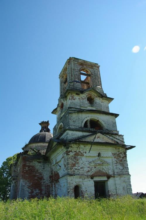 Вологодская область, Вологодский район, Беседное. Церковь Николая Чудотворца, фотография. фасады
