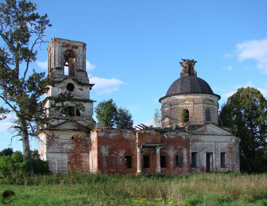 Вологодская область, Вологодский район, Беседное. Церковь Николая Чудотворца, фотография. общий вид в ландшафте