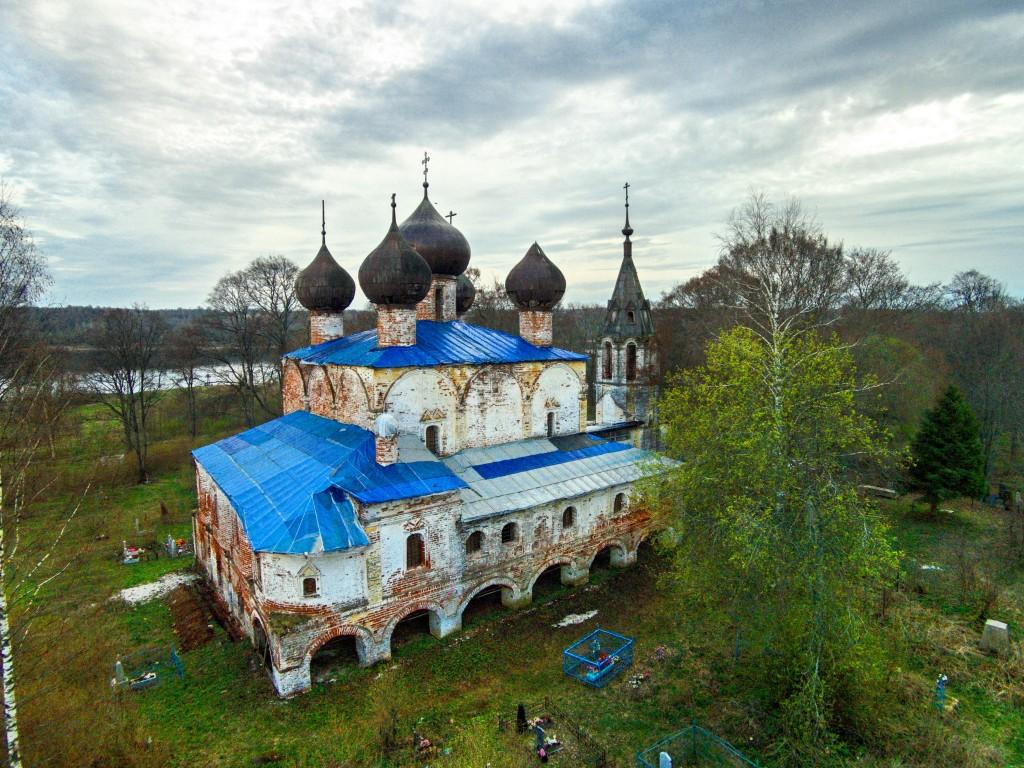 Церковь Богоявления Господня на Острову-Хопылёво-Рыбинский район-Ярославская область