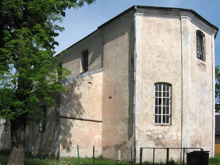 Латвия, Екабпилс, город, Екабпилс. Церковь Покрова Пресвятой Богородицы, фотография. фасады, Алтарная часть