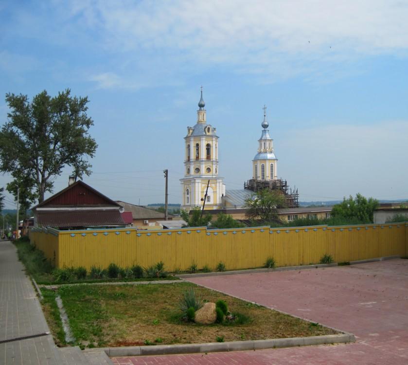 Калужская область, Козельский район, Козельск. Церковь Николая Чудотворца, фотография. общий вид в ландшафте