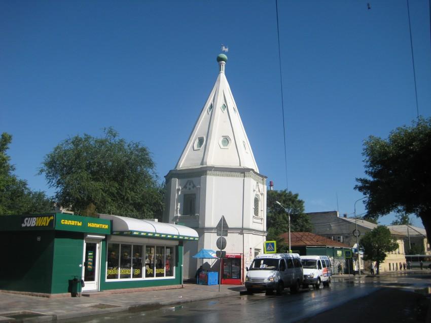 Астраханская область, Астрахань, город, Астрахань. Спасо-Преображенский монастырь, фотография. общий вид в ландшафте