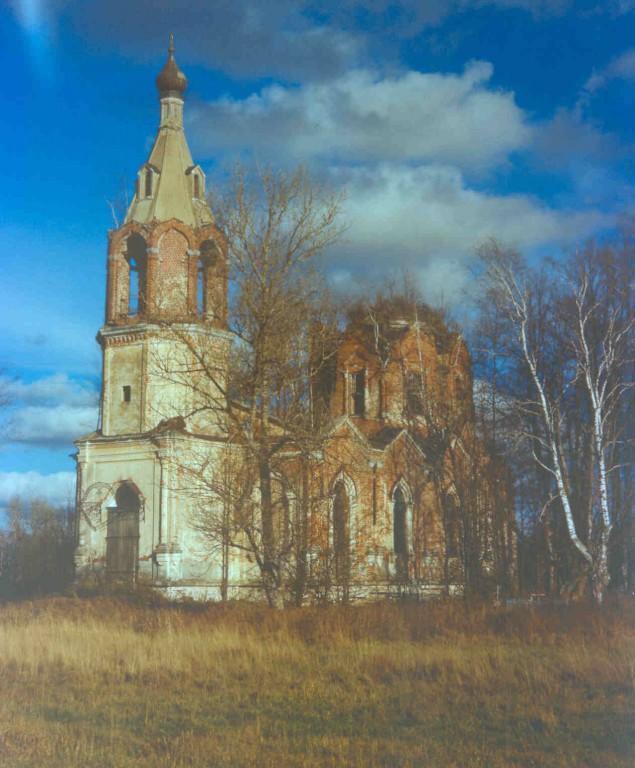 Московская область, Волоколамский городской округ, Амельфино. Церковь Николая Чудотворца, фотография. фасады