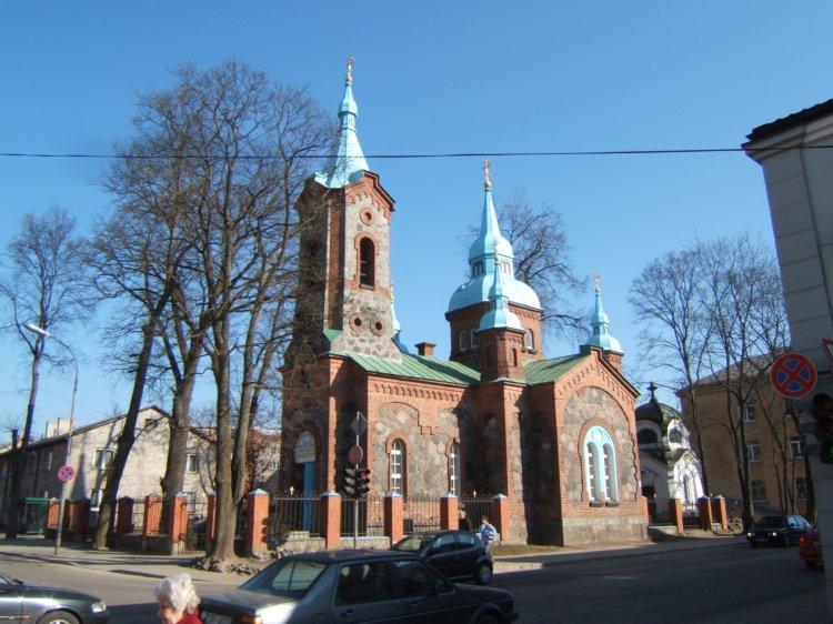 Латвия, Валмиера, город, Валмиера. Церковь Сергия Радонежского, фотография. фасады, Валмиерская преподобного Сергия Радонежского церковь