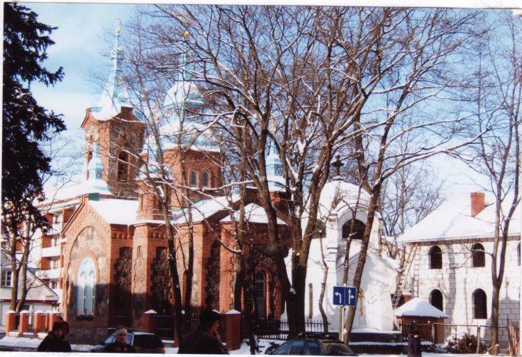 Латвия, Валмиера, город, Валмиера. Церковь Сергия Радонежского, фотография. фасады,