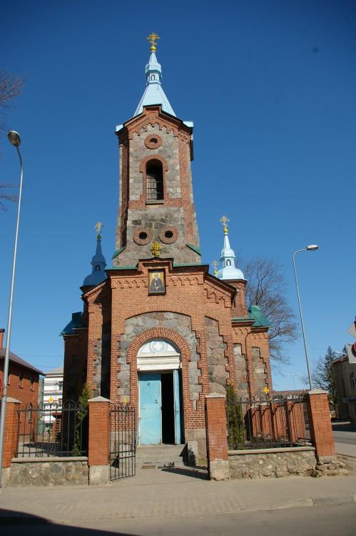 Латвия, Валмиера, город, Валмиера. Церковь Сергия Радонежского, фотография. фасады