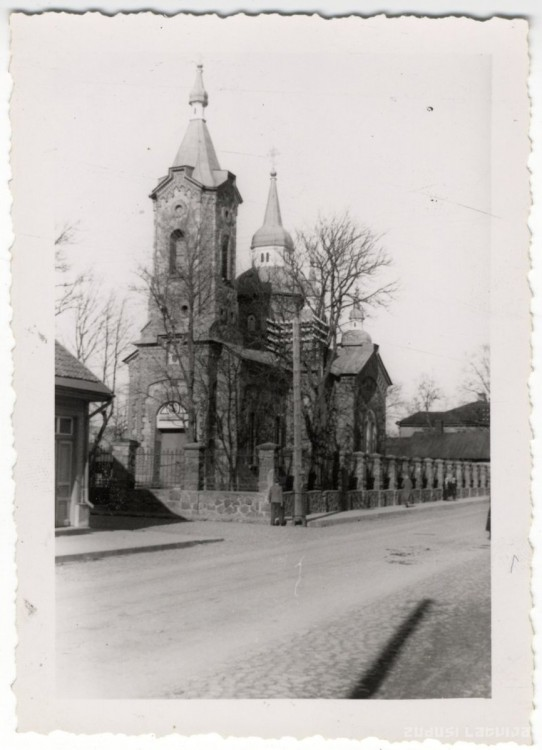 Латвия, Валмиера, город, Валмиера. Церковь Сергия Радонежского, фотография. архивная фотография, Фото с сайта http://www.zudusilatvija.lv/objects/object/16225/