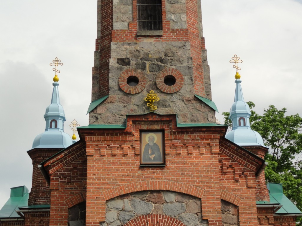 Латвия, Валмиера, город, Валмиера. Церковь Сергия Радонежского, фотография. архитектурные детали