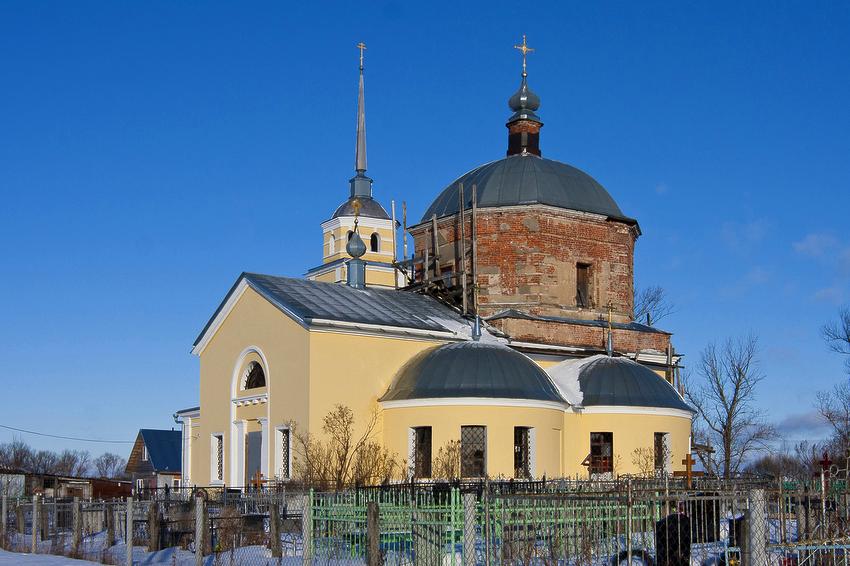 Тверская область, Калининский район, Семёновское. Церковь Димитрия Солунского, фотография. фасады, вид с юго-востока