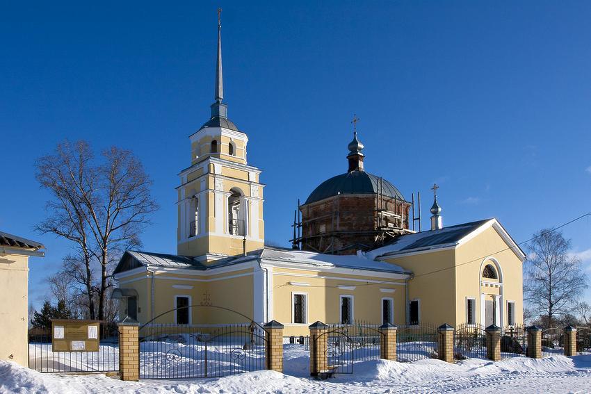 Тверская область, Калининский район, Семёновское. Церковь Димитрия Солунского, фотография. фасады, вид с юго-запада