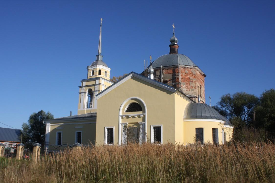Тверская область, Калининский район, Семёновское. Церковь Димитрия Солунского, фотография. фасады