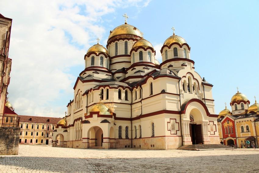 Новоафонский монастырь Симона Кананита. Собор Пантелеимона Целителя, Новый Афон