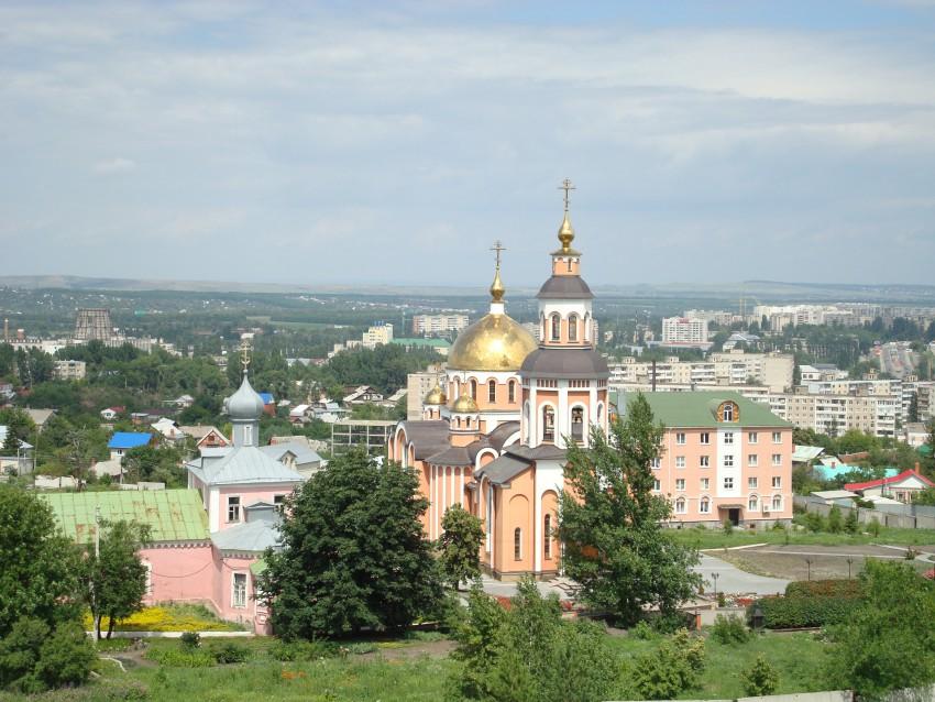 Саратовская область, Саратов, город, Саратов. Алексиевский женский монастырь, фотография. общий вид в ландшафте
