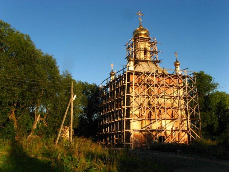 Вологодская область, Череповецкий район, Козохта. Церковь Богоявления Господня, фотография. фасады
