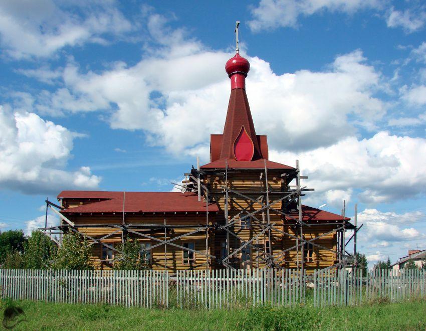 Вологодская область, Вологодский район, Уткино. Церковь Димитрия Солунского, фотография. фасады