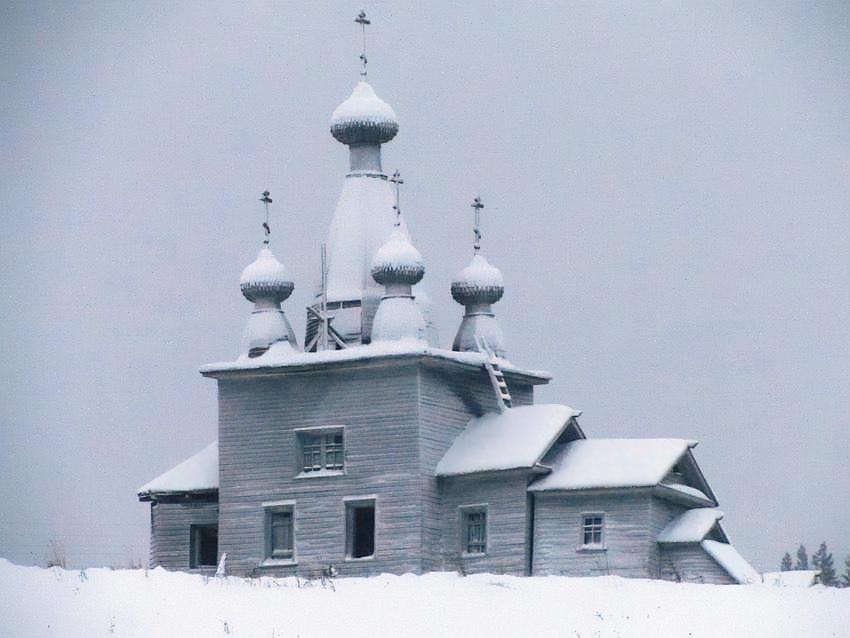 Архангельская область, Холмогорский район, Ракула. Церковь Воскресения Христова, фотография. фасады, вид с севера