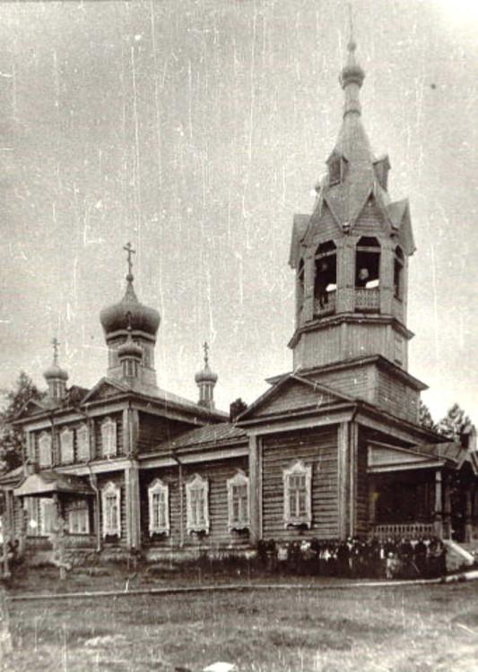 Пермский край, Пермский район, Юго-Камский. Церковь Всех Святых, фотография. архивная фотография, фотография церкви в год постройки