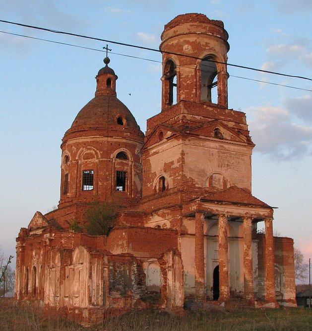 Курганская область, Катайский район, Зырянка. Церковь Богоявления Господня, фотография. фасады, Западный фасад -