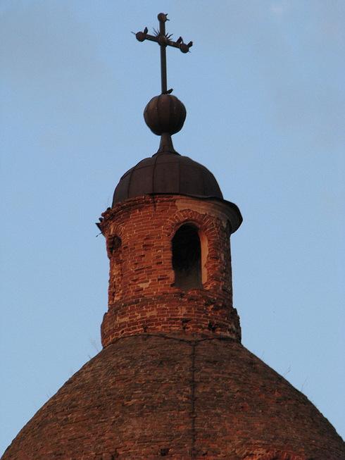 Курганская область, Катайский район, Зырянка. Церковь Богоявления Господня, фотография. архитектурные детали, Уцелевший купол над молельным залом