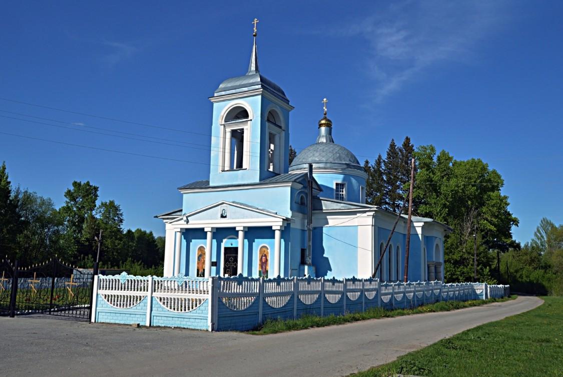Липецкая область, Долгоруковский район, Грызлово. Церковь Богоявления Господня, фотография.