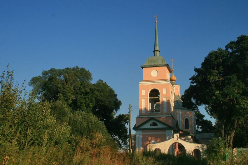 Тульская область, Заокский район, Ченцово. Церковь Александра Кипрского, фотография. общий вид в ландшафте