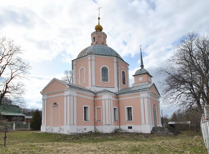 Тульская область, Заокский район, Ченцово. Церковь Александра Кипрского, фотография. фасады