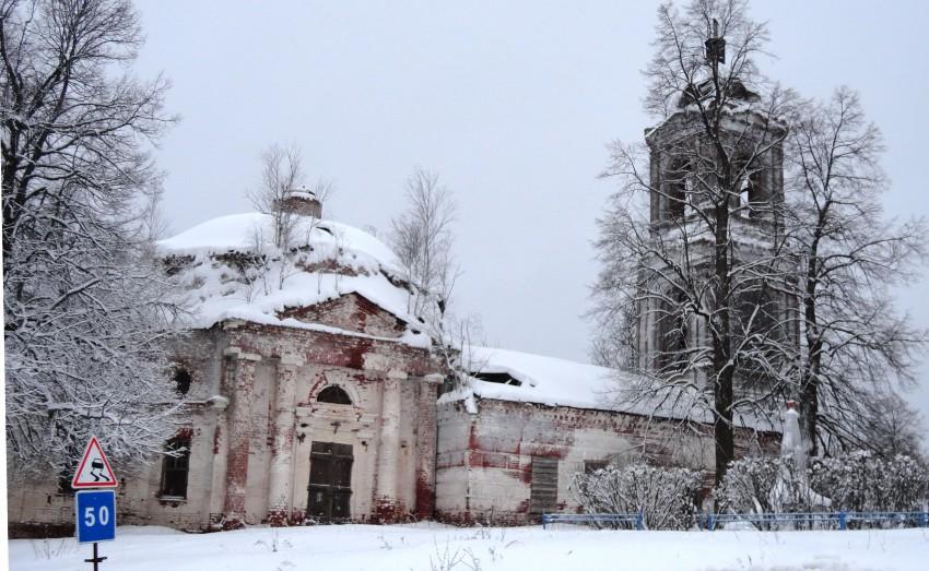 Нижегородская область, Навашинский район, Монаково. Церковь Николая Чудотворца, фотография. фасады