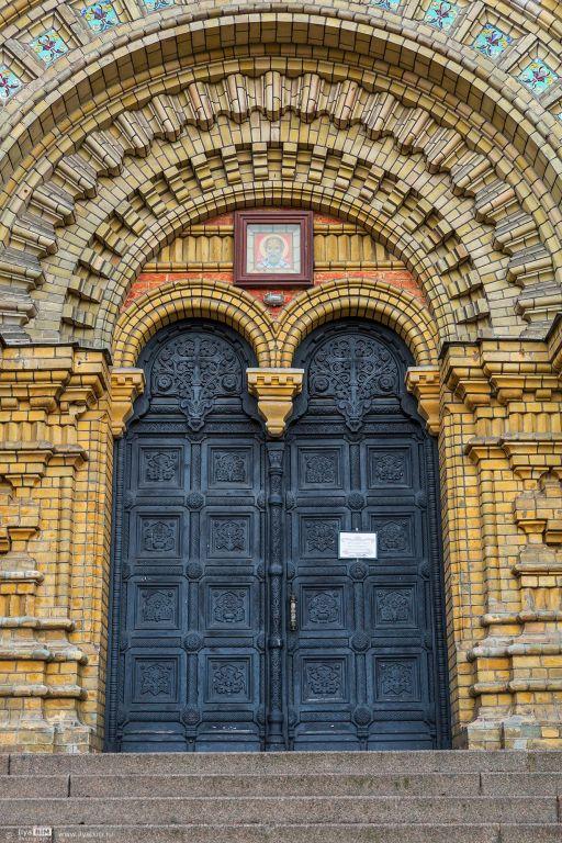 Латвия, Лиепая, город, Лиепая. Собор Николая Чудотворца, фотография. архитектурные детали, западный фасад
