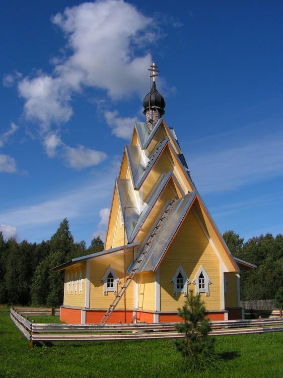Вологодская область, Белозерский район, Никиткино. Церковь Илии Пророка, фотография. фасады